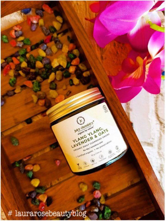 Juicy Chemistry Ylang Ylang, Lavender & Oats Cleansing Grains