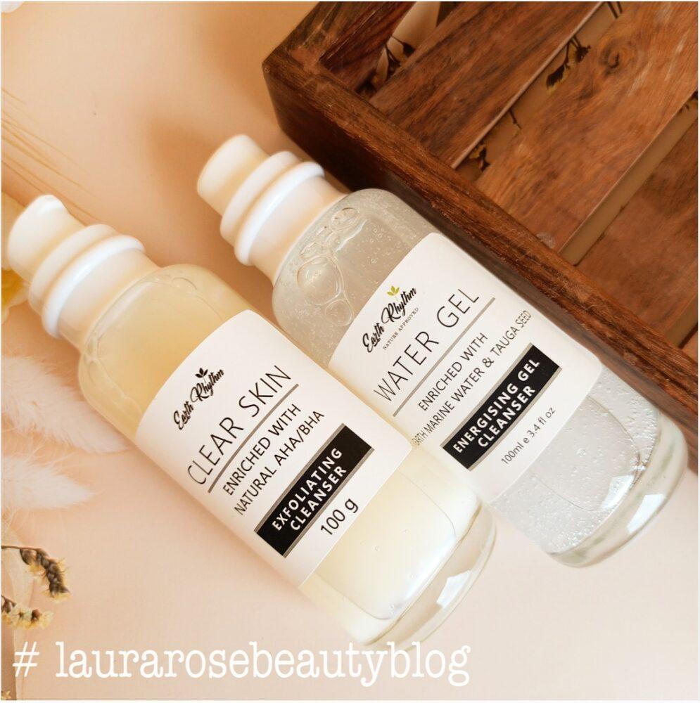 Earth Rhythm Water Gel & Earth Rhythm Clear Skin EXFOLIATING cleanser